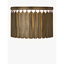 Buy John Lewis Indriya Wall Light, Antique Brass Online at johnlewis.com