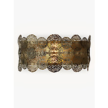Buy John Lewis Onella Disc Wall Light, Antique Brass Online at johnlewis.com