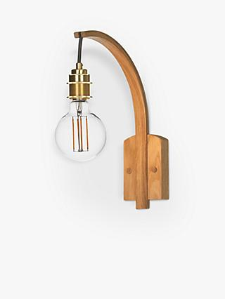 Tom Raffield Hanter Wall Light, Oak