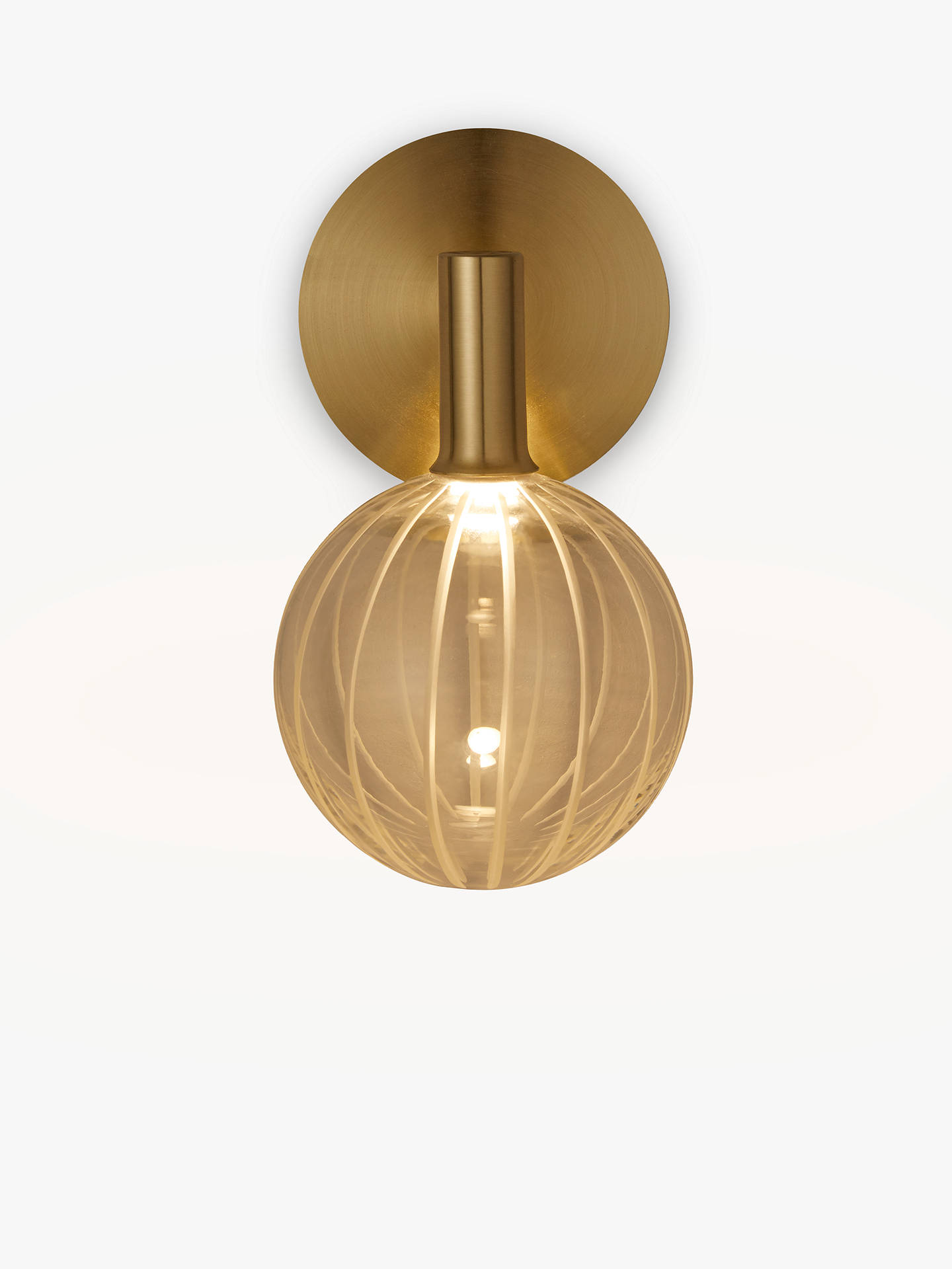 d8aa8bb947b3 Buy John Lewis & Partners Marlo LED Wall Light, Gold Online at johnlewis.  ...
