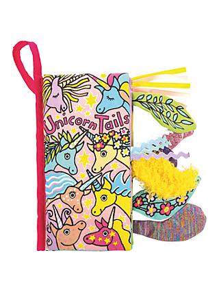 Jellycat Unicorn Tails Soft Book