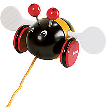 Buy Brio Pull Along Bumblebee Wooden Toy Online at johnlewis.com