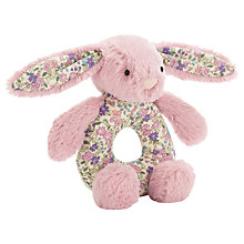 Buy Jellycat Blossom Tulip Bunny Grabber, One Size, Pink Online at johnlewis.com