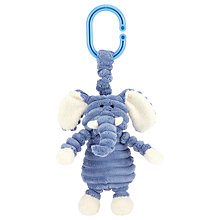 Buy Jellycat Cordy Roy Baby Elephant Jitter Soft Toy, Blue/White Online at johnlewis.com