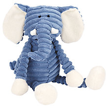 Buy Jellycat Cordy Roy Baby Elephant Soother Soft Toy, Blue/White Online at johnlewis.com