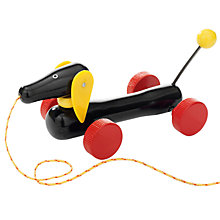 Buy Brio Pull Along Daschund Dog Wooden Toy Online at johnlewis.com