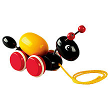 Buy Brio Pull Along Ant with Egg Wooden Toy Online at johnlewis.com