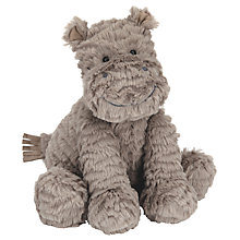 Buy Jellycat Fuddlewuddle Hippo Soft Toy, Medium, Grey Online at johnlewis.com