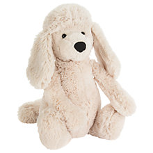 Buy Jellycat Bashful Poodle Pup Soft Toy, Medium, Cream Online at johnlewis.com