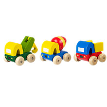 Buy Orange Tree Wooden First Trucks, Pack of 3, Multi Online at johnlewis.com