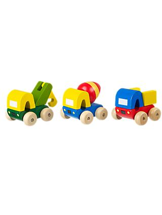 Orange Tree Wooden First Trucks, Pack of 3