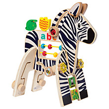 Buy Manhattan Toy Safari Zebra Wooden Activity Toy Online at johnlewis.com