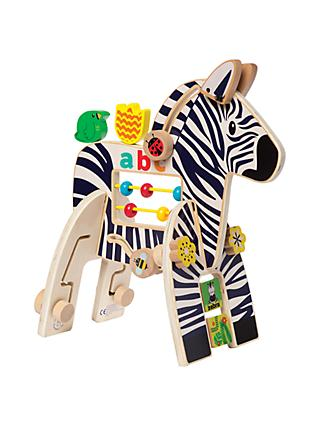 Manhattan Toy Safari Zebra Wooden Activity Toy