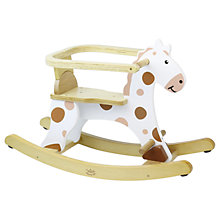 Buy Vilac Wooden My First White Rocking Horse, White Online at johnlewis.com