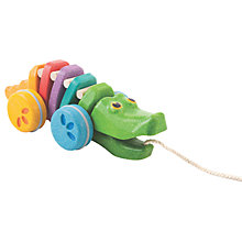 Buy Plan Toys Baby Rainbow Alligator Pull Along, Multi Online at johnlewis.com