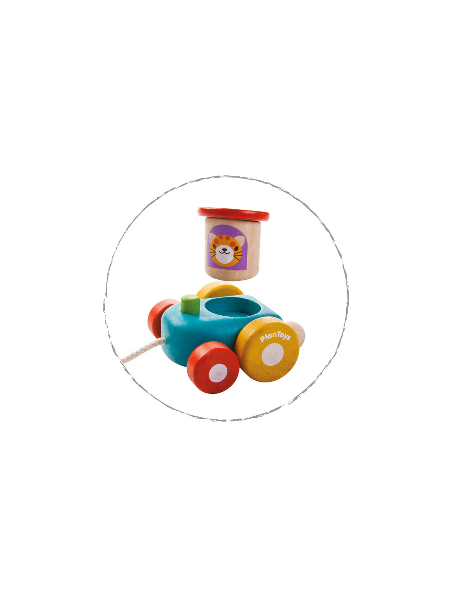plan toys baby happy engine, multi at john lewis & partners