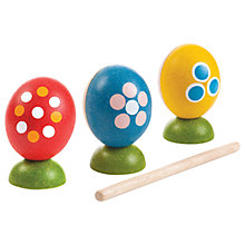 Buy Plan Toys Baby Egg Percussion Set, Multi Online at johnlewis.com