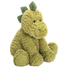 Buy Jellycat Fuddlewuddle Dino Soft Toy, Medium, Green Online at johnlewis.com