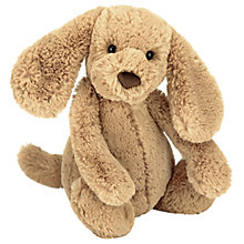 Buy Jellycat Bashful Puppy Soft Toy, Small, Toffee Online at johnlewis.com