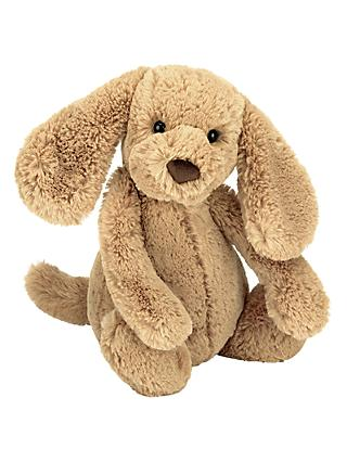 Jellycat Bashful Puppy Soft Toy, Small, Toffee