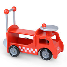 Buy Vilac Wooden 2-in-1 Fire Truck Activity Ride On Walker Online at johnlewis.com