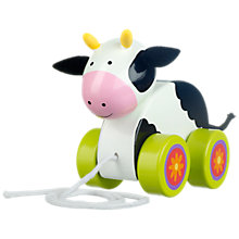 Buy Orange Tree Cow Pull Along Toy Online at johnlewis.com