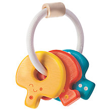 Buy Plan Toys Baby Keys Rattle Toy, Multi Online at johnlewis.com