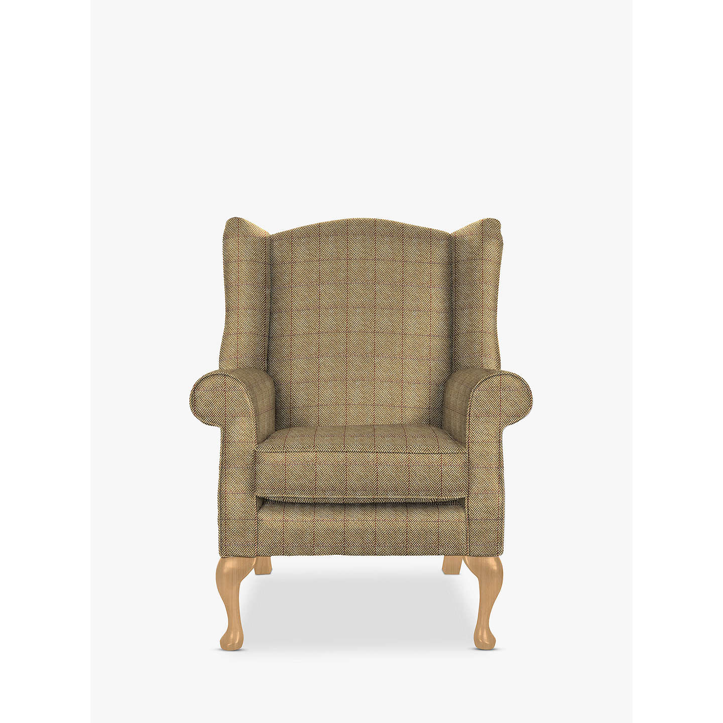 BuyParker Knoll Oberon Armchair, Murray Herringbone Gold Online At  Johnlewis.com ...