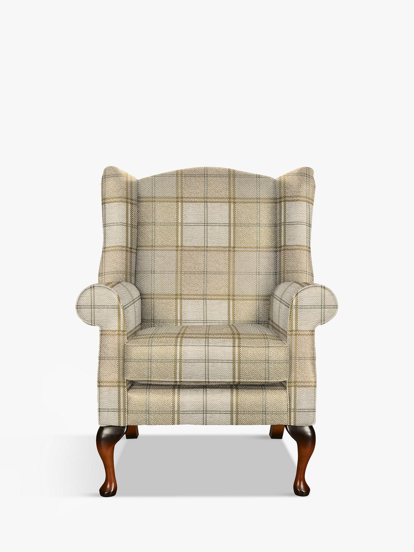 BuyParker Knoll Oberon Armchair, Harris Check Camel Online at johnlewis.com