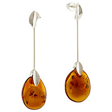 Buy Be-Jewelled Amber Snake Drop Earrings Online at johnlewis.com