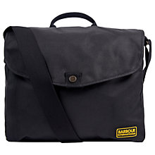 Buy Barbour International Gabion Messenger, Black Online at johnlewis.com
