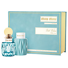Buy Miu Miu 50ml L'Eau Bleue Eau de Parfum Fragrance Gift Set Online at johnlewis.com