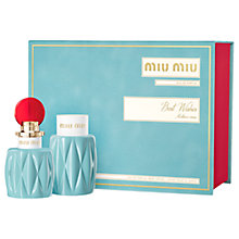 Buy Miu Miu Eau de Parfum Fragrance Gift Set Online at johnlewis.com