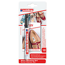 Buy Edding Shoe Marking Set Pen And Labels, Black Online at johnlewis.com