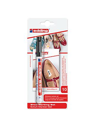 Edding Shoe Marking Set Pen And Labels, Black