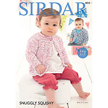 Buy Sirdar Snuggly Squishy Button Cardigan Patterns 4854 Online at johnlewis.com