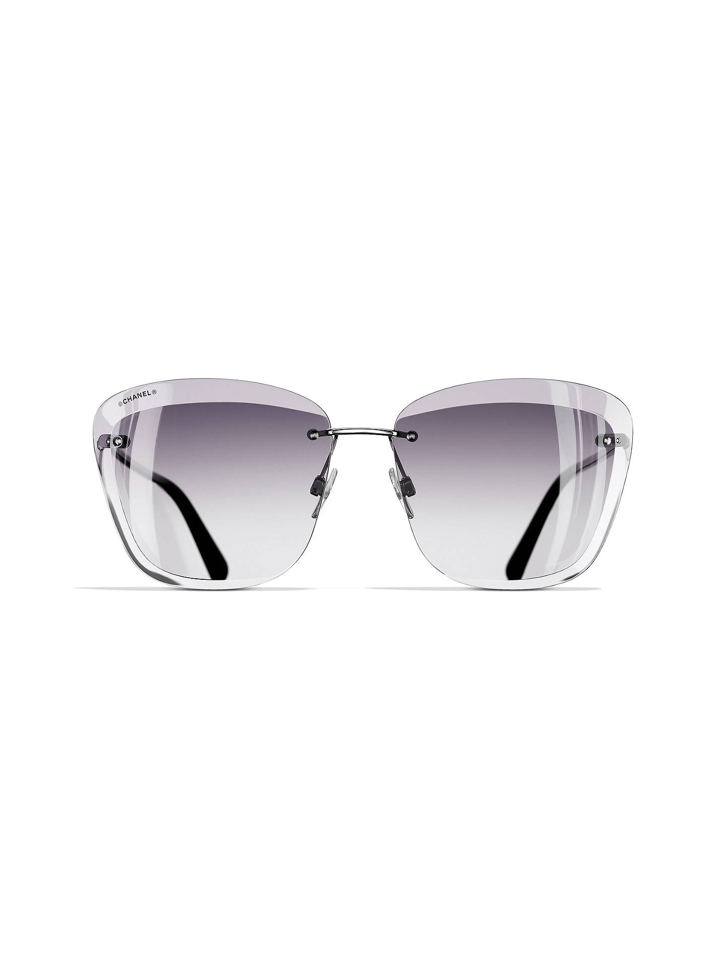 be287e3e10 ... BuyCHANEL Butterfly Sunglasses CH4221 Silver Grey Online at  johnlewis.com ...