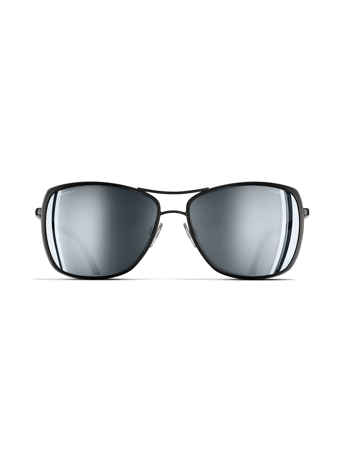 8336279cbe ... BuyCHANEL Pilot Sunglasses CH4224 Black Online at johnlewis.com ...