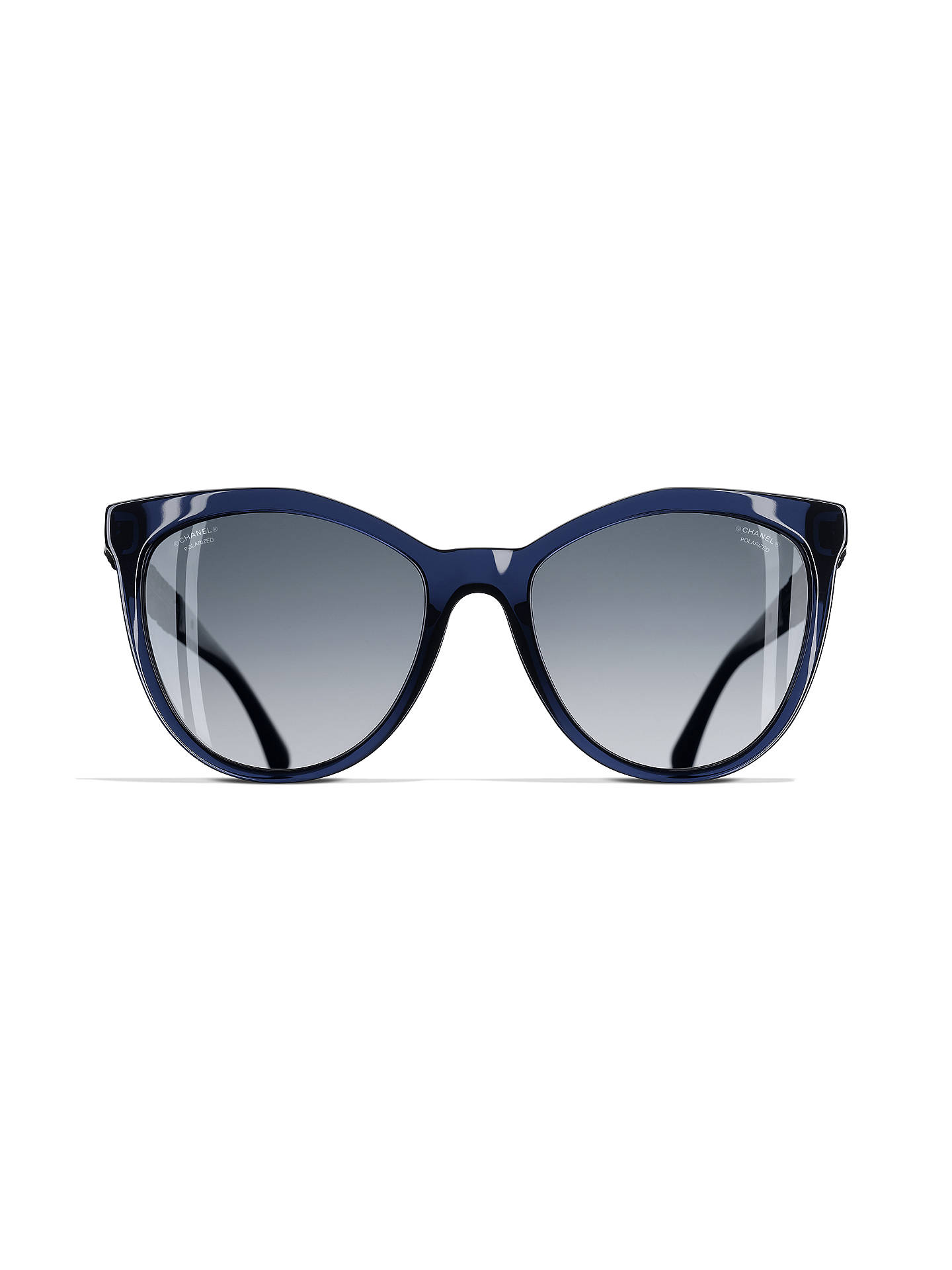 89abe589d1 ... Buy CHANEL Polarised Butterfly Sunglasses CH5376B Dark Blue Online at  johnlewis.com ...