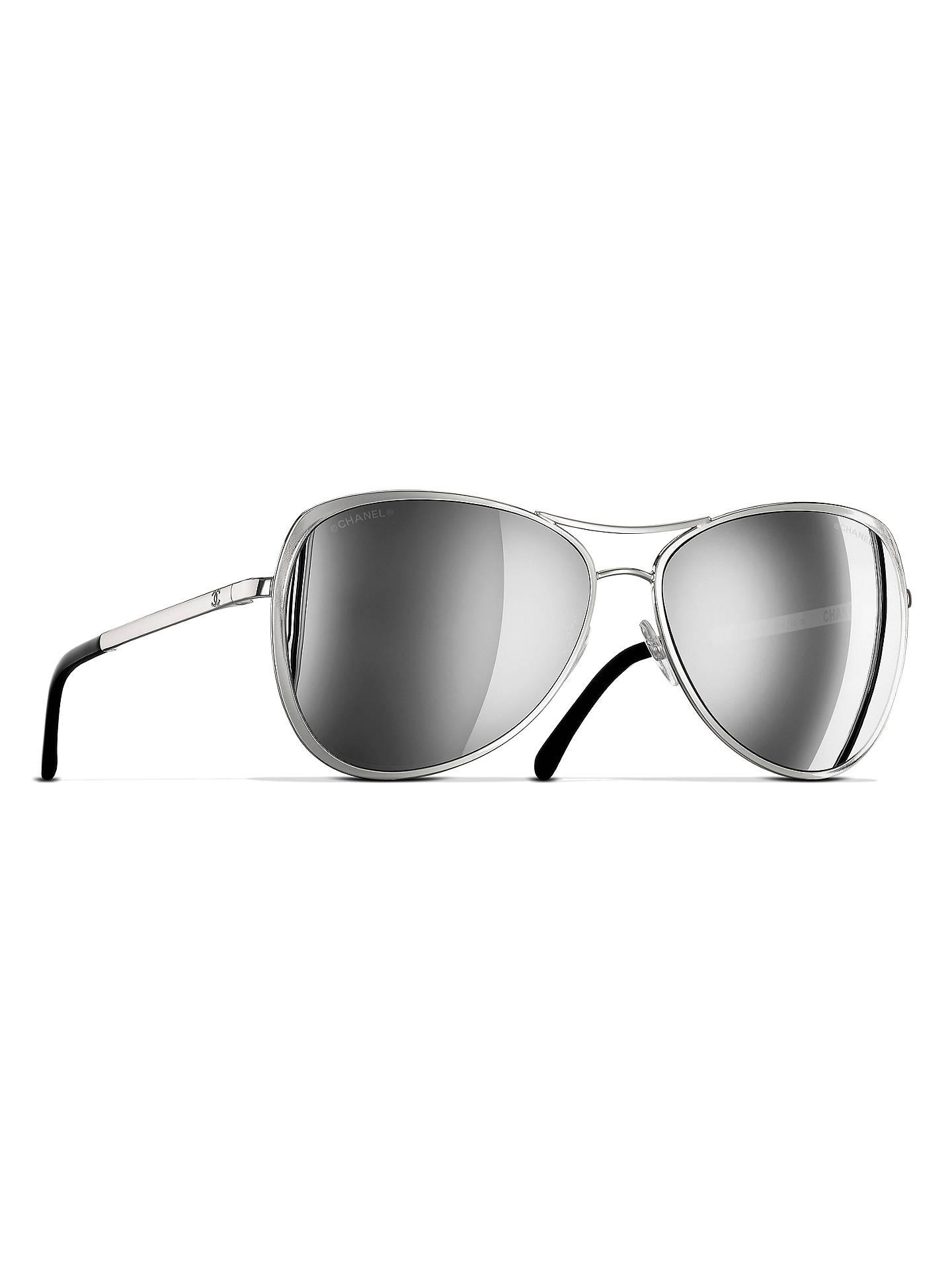 969f6b86b5 BuyCHANEL Pilot Sunglasses CH4223 Silver Online at johnlewis.com ...