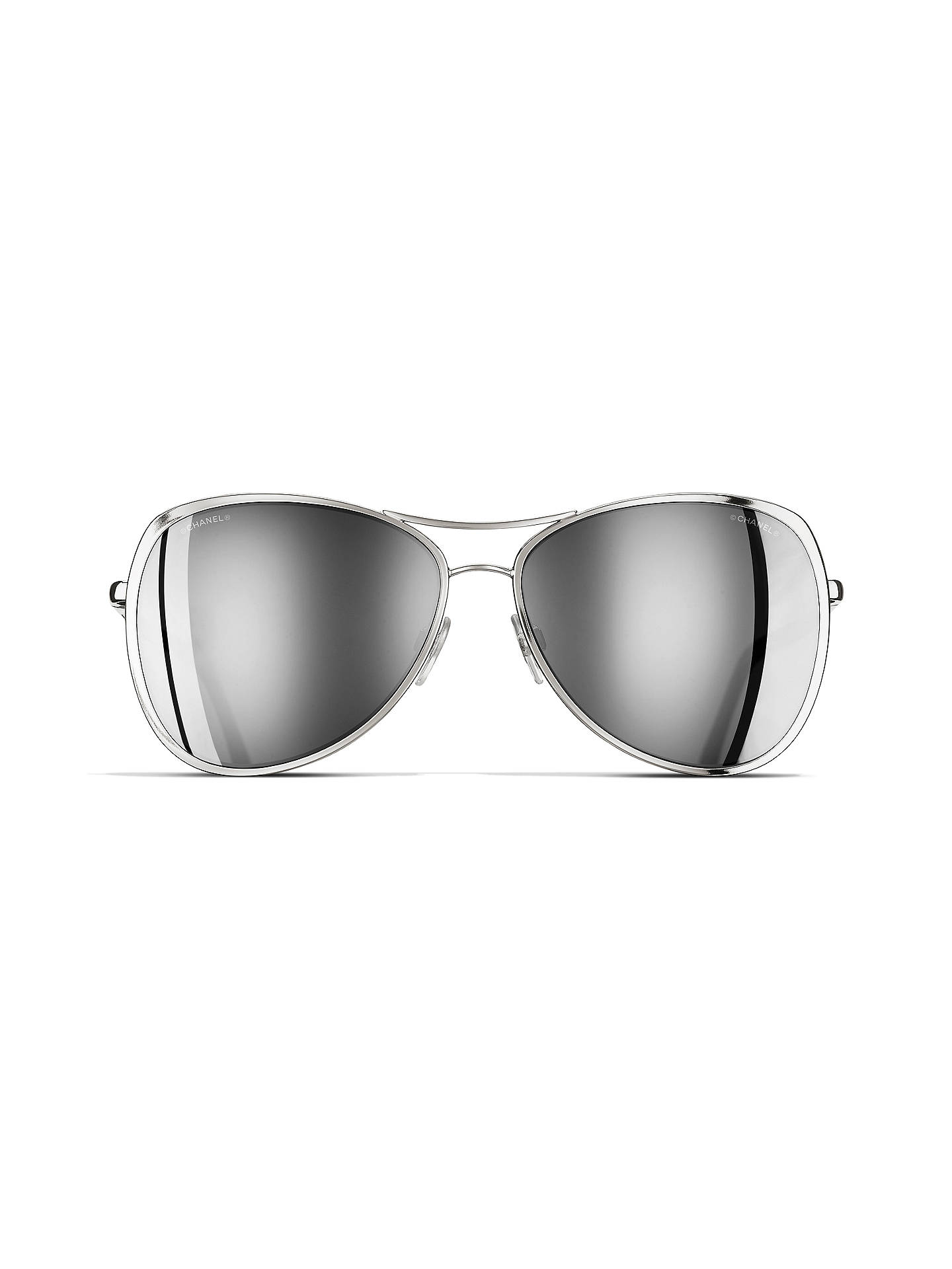 a444b8491d ... BuyCHANEL Pilot Sunglasses CH4223 Silver Online at johnlewis.com ...