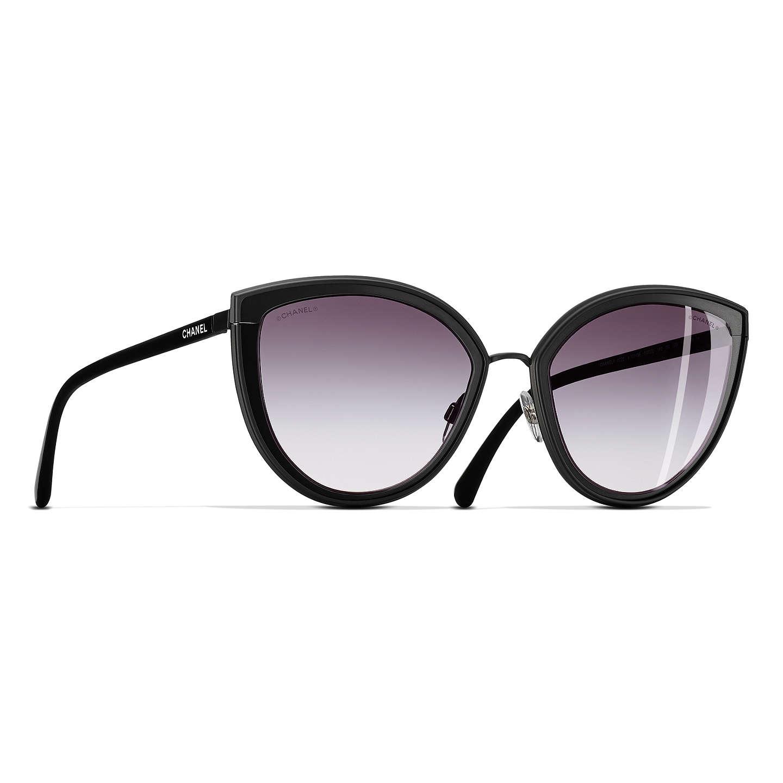 CHANEL Cat Eye Sunglasses CH4222 Black at John Lewis