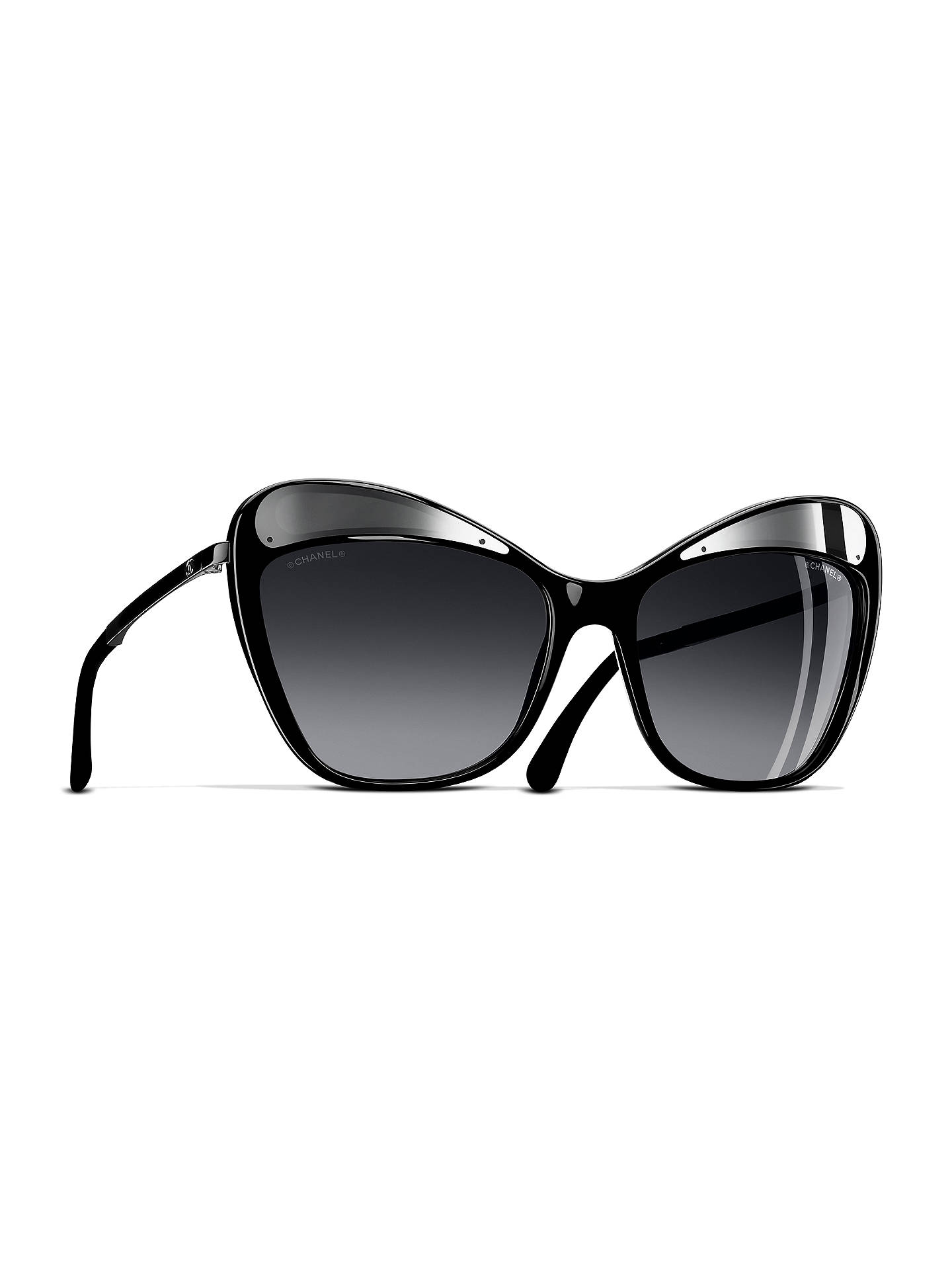 d7f4265872e BuyCHANEL Butterfly Sunglasses CH5377 Grey Silver Online at johnlewis.com  ...