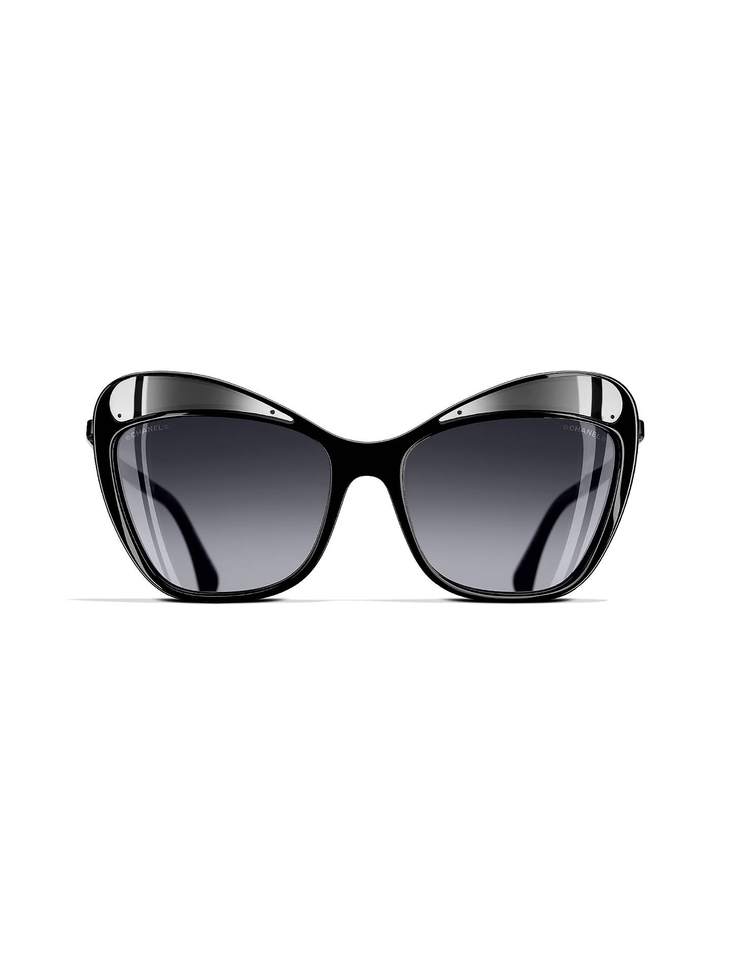9ee4ac2f1c ... BuyCHANEL Butterfly Sunglasses CH5377 Grey Silver Online at  johnlewis.com ...