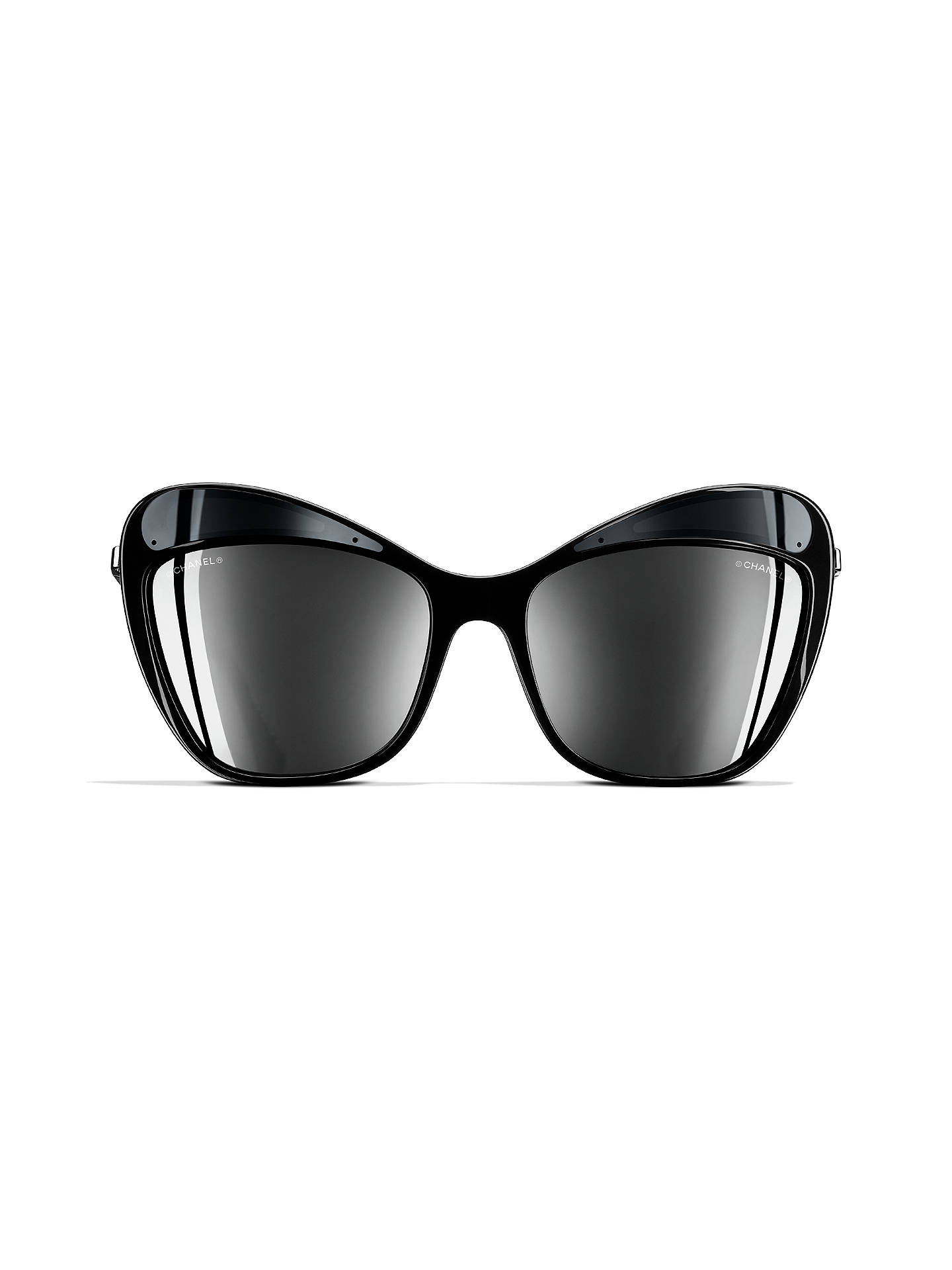 084b53b104 ... BuyCHANEL Butterfly Sunglasses CH5377 Silver Black Online at  johnlewis.com ...