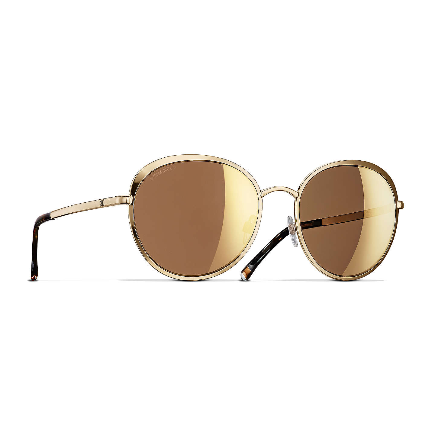 Chanel Round Sunglasses Ch4206 Gold by Chanel