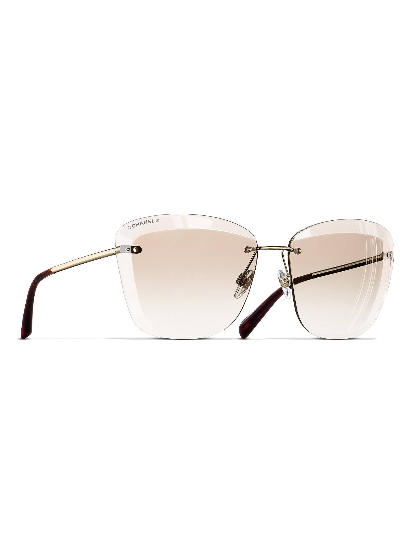 747c54cf063 BuyCHANEL Butterfly Sunglasses CH4221 Gold Beige Online at johnlewis.com ...