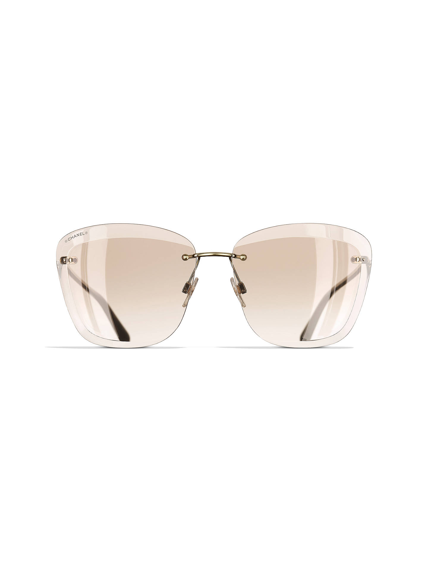 9011f0295a ... BuyCHANEL Butterfly Sunglasses CH4221 Gold Beige Online at  johnlewis.com ...