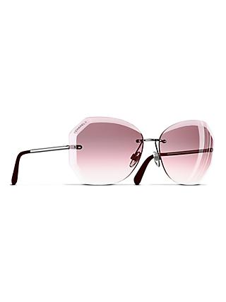 CHANEL Round Sunglasses CH4220 Silver/Pink