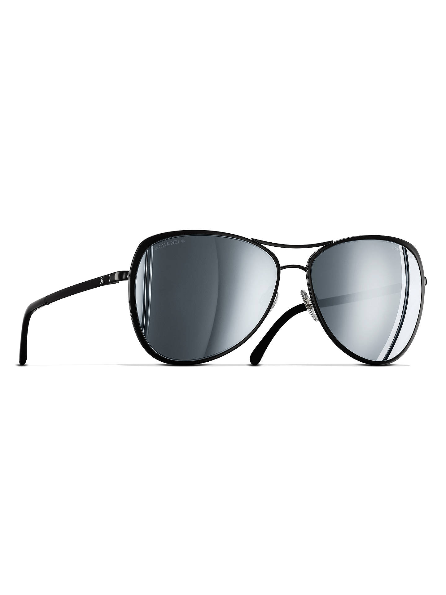 BuyCHANEL Pilot Sunglasses CH4223 Black Online at johnlewis.com ... 839e0845154